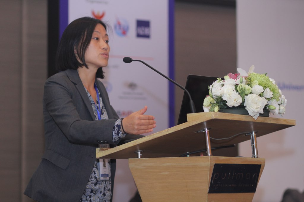 TRPC Research Director Yoonee Jeong at the USO Broadband Asia Pacific Forum 2015